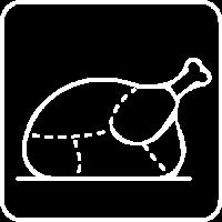 Découpe de poulet