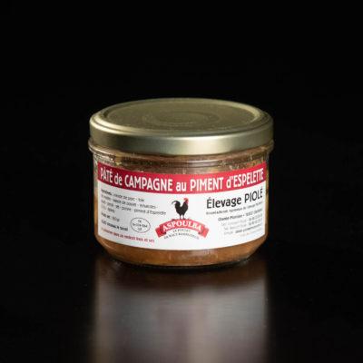 Conserve de pâté de campagne au piment d'espelette par Aspoulba