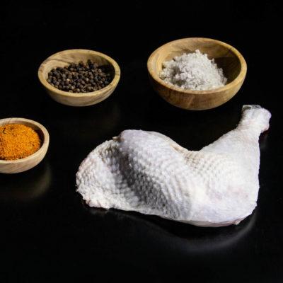Découpe, cuisse de poulet de Barbezieux par Aspoulba