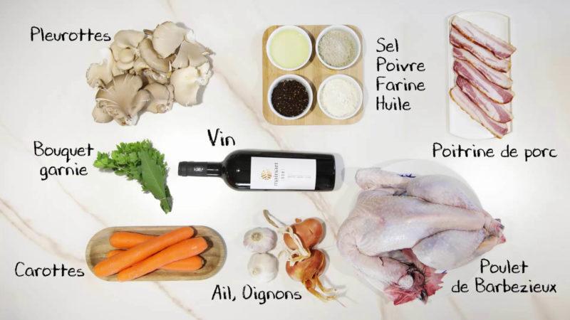 Recette du Coq de Barbezieux au vin
